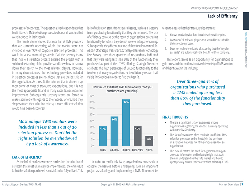2016 TMS TRMS Analyst Report - Sneak Peak 5
