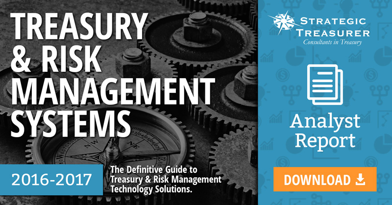 2016 Treasury + Risk Management Systems Analyst Report