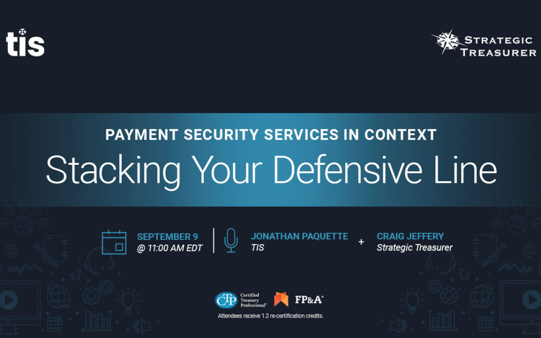 Webinar: Payment Security Services in Context: Stacking Your Defensive Line