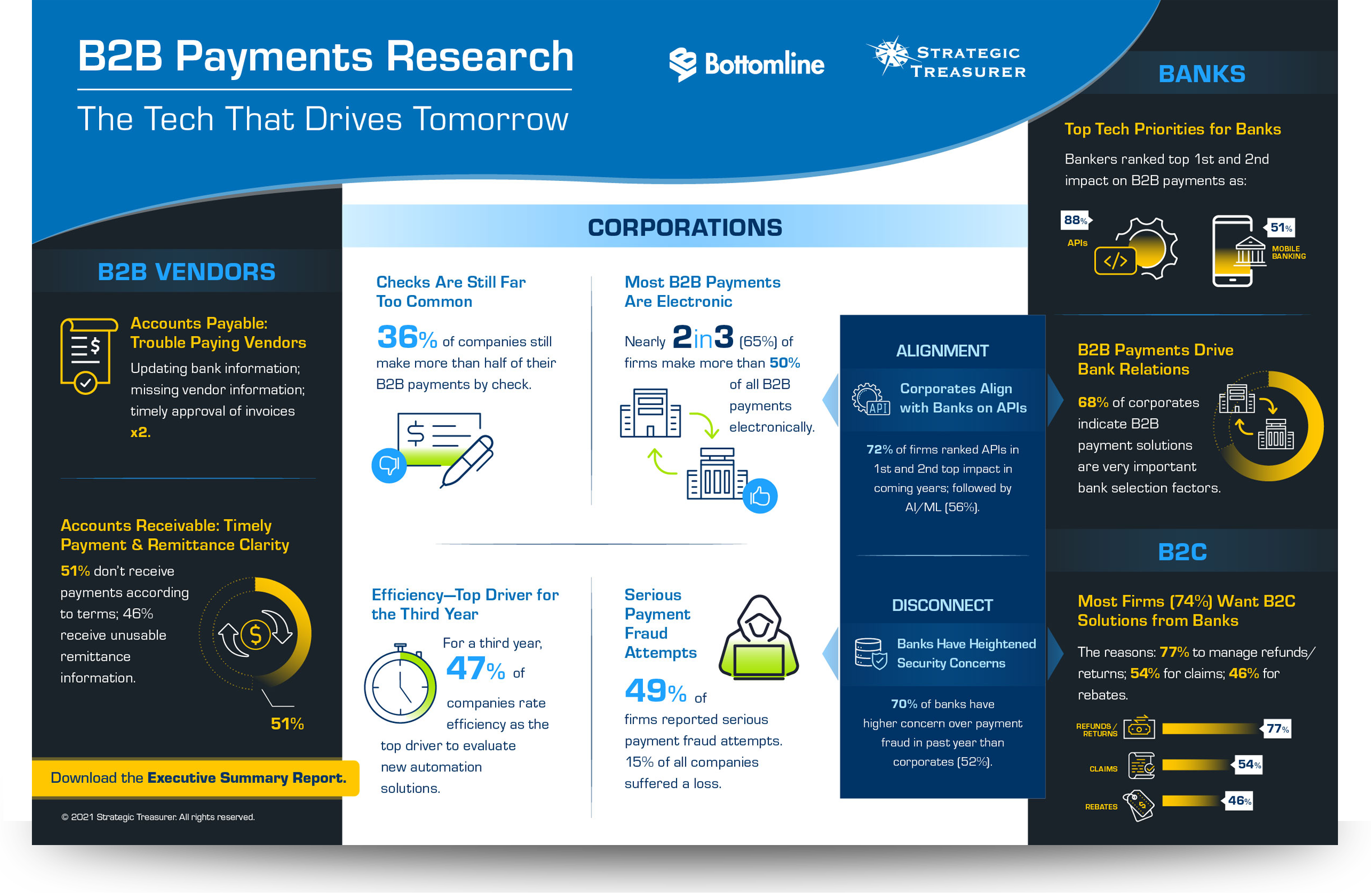 2021 B2B Payments Infographic
