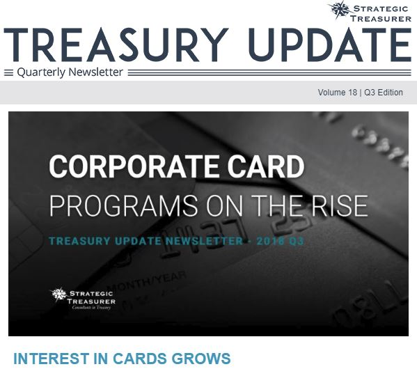Fall 2018 Treasury Update Newsletter