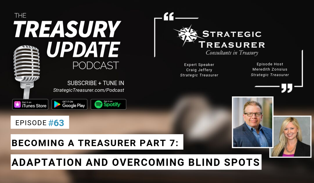 #63 – Becoming a Treasurer, Part 7: Adaptation and Overcoming Blind Spots