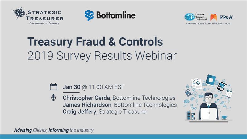 2019 Treasury Fraud & Controls Survey Results Webinar