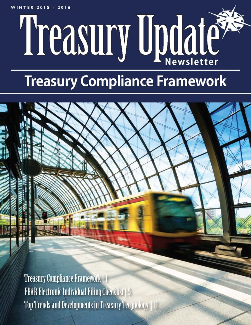 Winter 2015-2016 Treasury Update Newsletter