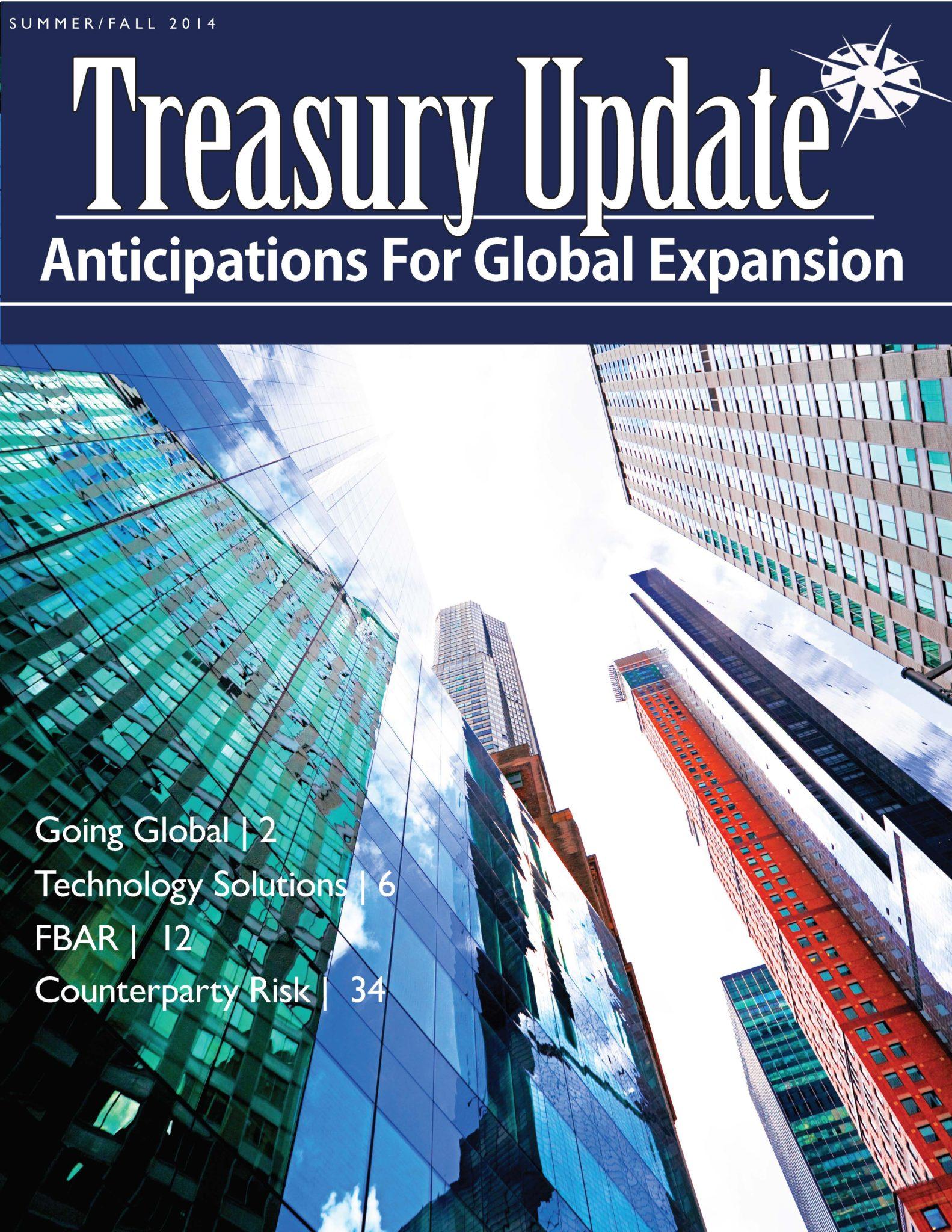 Summer/Fall 2014 Treasury Update Newsletter