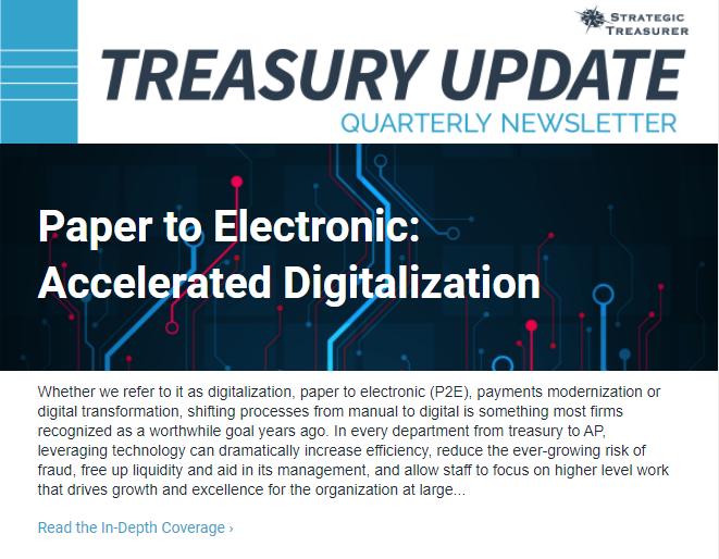 Treasury Update Newsletter, 2021 Q1
