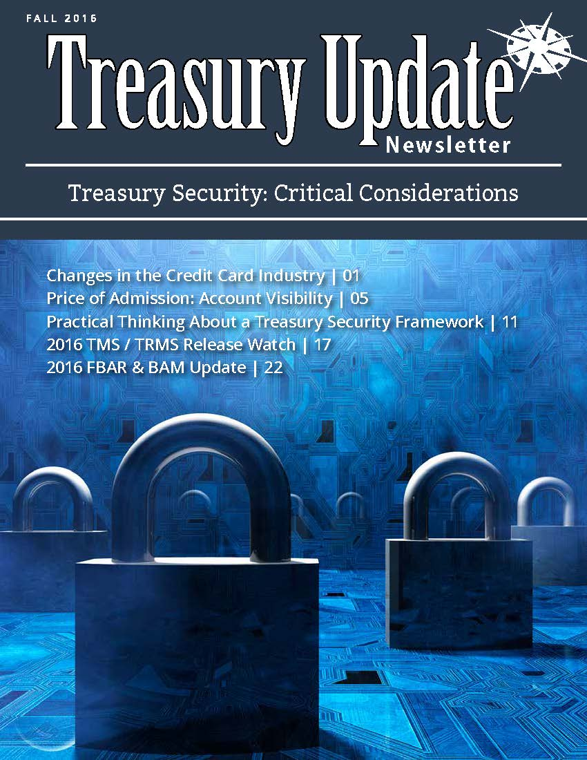 Fall 2016 Treasury Update Newsletter