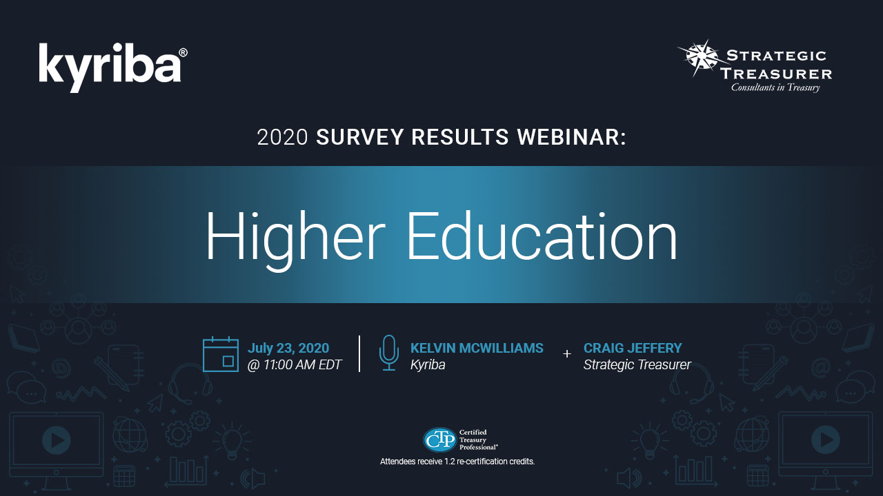 Higher Education: 2020 Survey Results Webinar