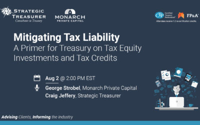 Mitigating Tax Liability: A Primer for Treasury on Tax Equity Investments and Tax Credits