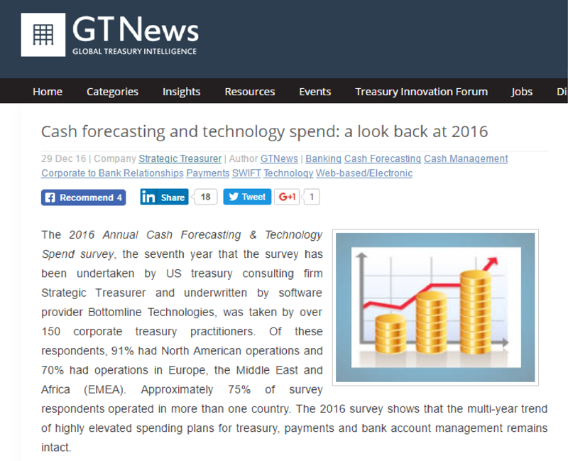 GTNews Cash Forecasting & Visibility Survey Article
